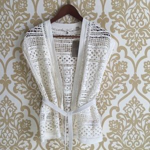 Anthropologie Knitted & Knotted Cardigan NWT